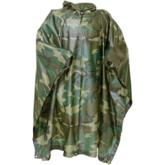 US MILITARY PONCHO, WET WEATHER WOODLAND | NEW