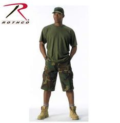 Long Length Camo BDU Short