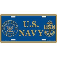 USN LOGO & EMBLEM LICENSE PLATE