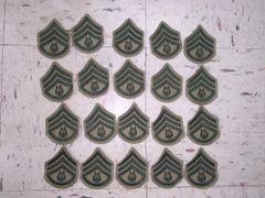 US MARINE CORPS KHAKI & GREEN RANK PATCH - STAFF SERGEANT - LOT OF 20 - NEW