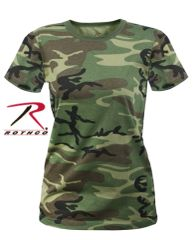 WOMEN'S LONGER WOODLAND CAMO T-SHIRT | 5678