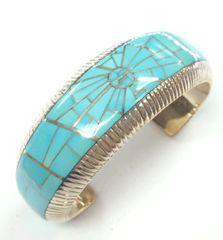 Handmade Silver Bracelet with Sleeping Beauty Turquoise