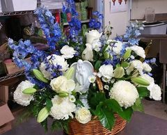 Blue and White Angel