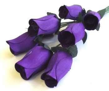 Purple Wood Roses Last A Lifetime Romantic Amp Unique Gift