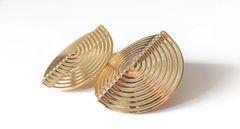 Queen Warrior Earrings - Gold