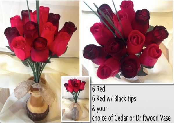Roses Vases Driftwood Cedar Rustic Rose Factory Wood Shaved