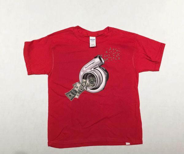 Blowin Money Tee- KIDS - Red