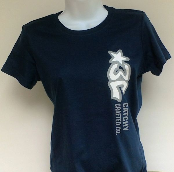 Women's Navy Blue 3C Logo Tee