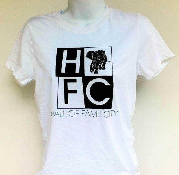 Women's White Hall Of Fame City Tee