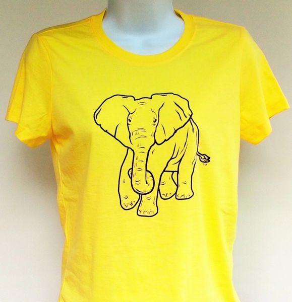 Women's Yellow Elephant Tee