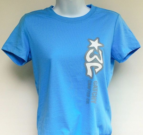 Women's Pale Blue 3C Logo Tee