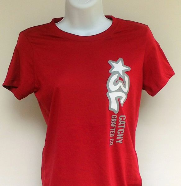 Women's Cardinal Red 3C Logo Tee