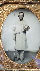 QUARTER PLATE AMBROTYPE 9 NH SOLDIER