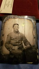 1 1/4 Plate Confederate Ambrotype