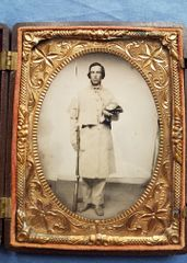 9 NH INFANTRY TINTYPE QUARTER PLATE
