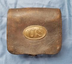 PATTERN 1861 US CARTRIDGE BOX - UNMARKED