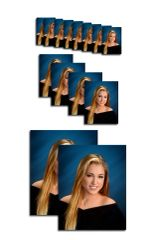E Package - 1 Pose Deluxe 14 Portraits 2-8x10, 4-4x5, 8 Wallets