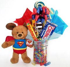 Superman Candy Bear Bouquet