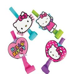 Hello Kitty Blowouts - ADD TO CANDY BEAR BOUQUET