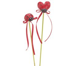 Ladybug Resin Pick - ADD TO CANDY BEAR BOUQUET