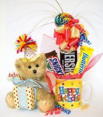Birthday Candy Bear Bouquet Beary Happy Birthday