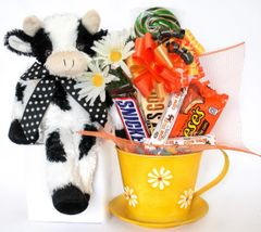 Cow Candy Bear Bouquet Bossy Daisies and Dots