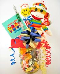 Nurse Candy Bear Bouquet Socks Stripes Sock Monkey