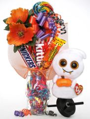 Halloween Candy Bear Bouquet Scream Ghost