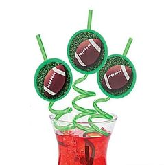 Football Straw - ADD TO CANDY BEAR BOUQUET