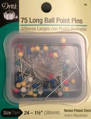 Dritz 75 Long Ball Point Pins
