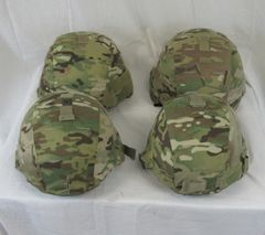 Advanced Combat Helmet (ACH), with various covers, no cover etc
