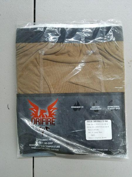 DriFire Coyote FR underwear - long length - USGI version -- Small pants NEW