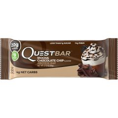 (005345)n Quest Nutrition - Quest Bar - Mocha Chocolate Chip - 1 Bar 4g Carbs