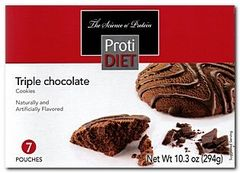 (354415) ProtiDiet Triple Chocolate Cookies - (7/Box) =Alternative to Ideal Protein - Restricted