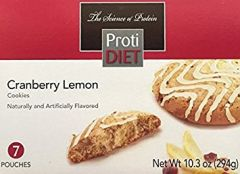 (354408) ProtiDiet Cranberry Lemon Cookies - (7/Box) =Alternative to Ideal Protein - Restricted