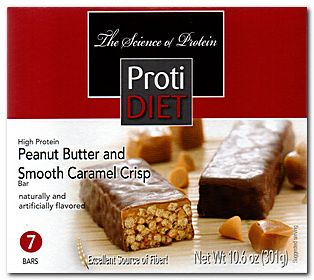 Protidiet Peanut Butter And Smooth Caramel Crisp Exceling Nutrition