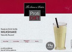 (005287) NEW!!! ProtiDiet Ready to Drink - Vanilla Milkshake (4/Box) = ALTERNATIVE TO IDEAL PROTEIN --- UNRESTRICTED - - - GLUTEN FREE!!