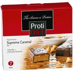 (420035) Protidiet Supreme Caramel Bar - - (7/Box) =Alternative to Ideal Protein - Restricted