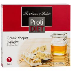 (353012) ProtiDiet Protein Bar - Greek Yogurt Delight (7/Box)= ALTERNATIVE TO IDEAL PROTEIN --- RESTRICTED