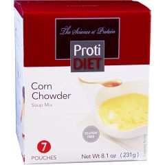 (354743) Protidiet- Corn Chowder (7/Box) = ALTERNATIVE TO IDEAL PROTEIN --- RESTRICTED - - - GLUTEN FREE