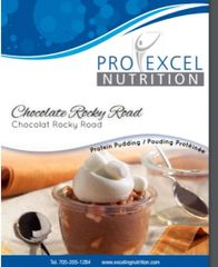 (110) ProExcel Chocolate Rocky Road Pudding ----UNRESTRICTED --- GLUTEN FREE