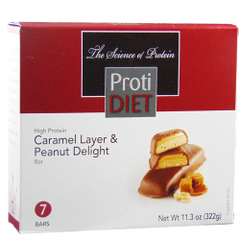 (354736) Protidiet Caramel Layer & Peanut Delight Bar = ALTERNATIVE TO IDEAL PROTEIN --- RESTRICTED
