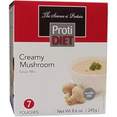 (350325) Protidiet - Creamy Mushroom Soup (7/Box) = ALTERNATIVE TO IDEAL PROTEIN --- RESTRICTED - - - GLUTEN FREE