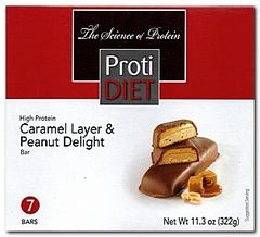 (354736AA) Protidiet Caramel Layer & Peanut Delight Bar = ALTERNATIVE TO IDEAL PROTEIN --- RESTRICTED