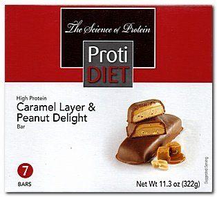 Protidiet Caramel Layer Peanut Delight Bar Exceling Nutrition