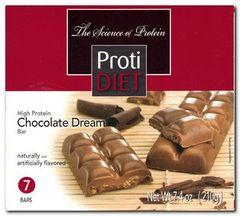 (422381) ProtiDiet Protein Bar - Chocolate Dream (7/Box)= ALTERNATIVE TO IDEAL PROTEIN --- NOT PROTOCOL - - - GLUTEN FREE!!