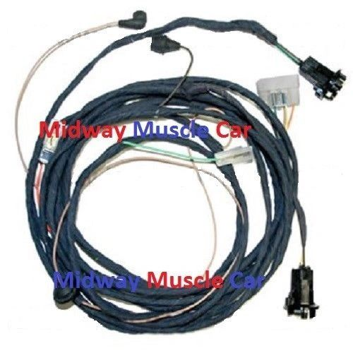 rear body panel tail light lamp wiring harness 62 chevy ii. Black Bedroom Furniture Sets. Home Design Ideas