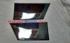 chrome front lower fender rocker molding extensions 67 Pontiac GTO LeMans