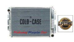 67-69 Firebird Camaro SB Cold-Case aluminum performance radiator w/ Manual Trans