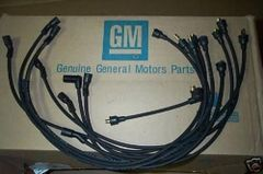 1-Q-66 date coded spark plug wires 66 Chevy Corvette 427 w/o radio